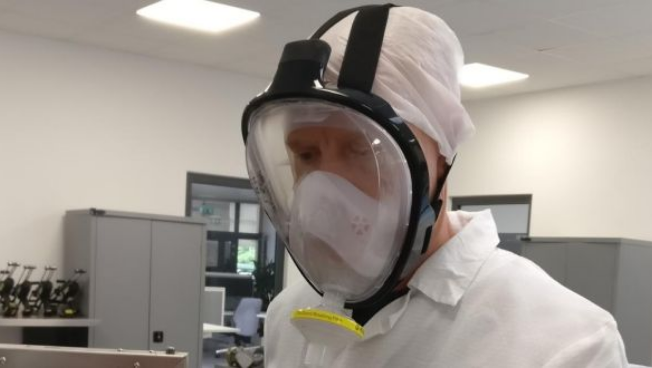 pMask, face mask for COVID 19 safety which was developed in Irish Manufacturing research by IMR, Tyndall and Dave Manning