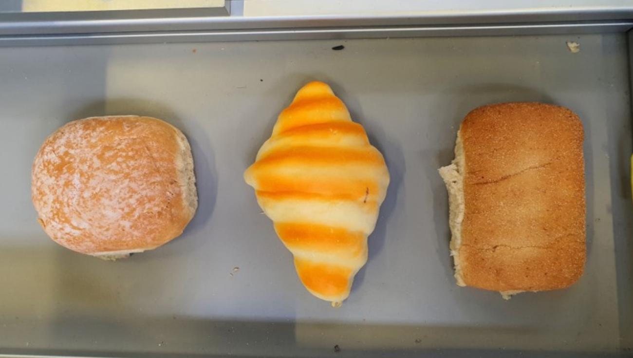 Robotic Bin Picking for Complex Shape - 3 croissants