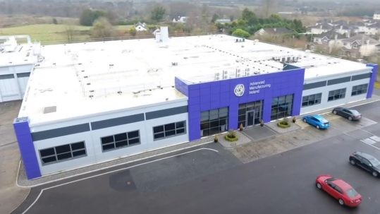 An aerial view of the Irish Manufacturing Research Centre in Mullingar