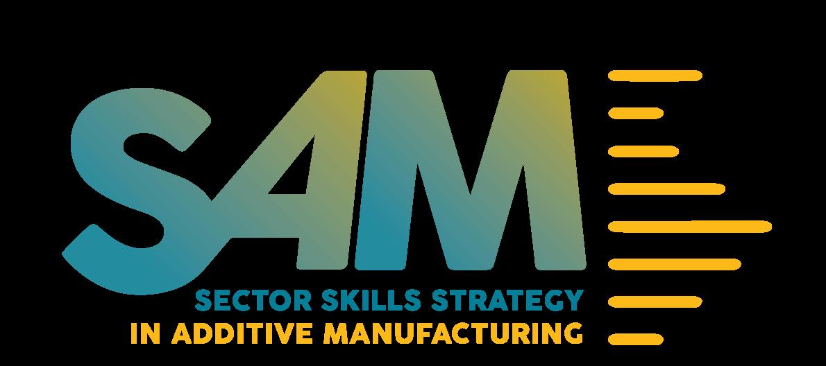 SAM Logo - Skills Strategy for Additive Manufacturing
